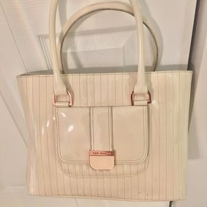Ted Baker Tote- Ivory Patent Leather